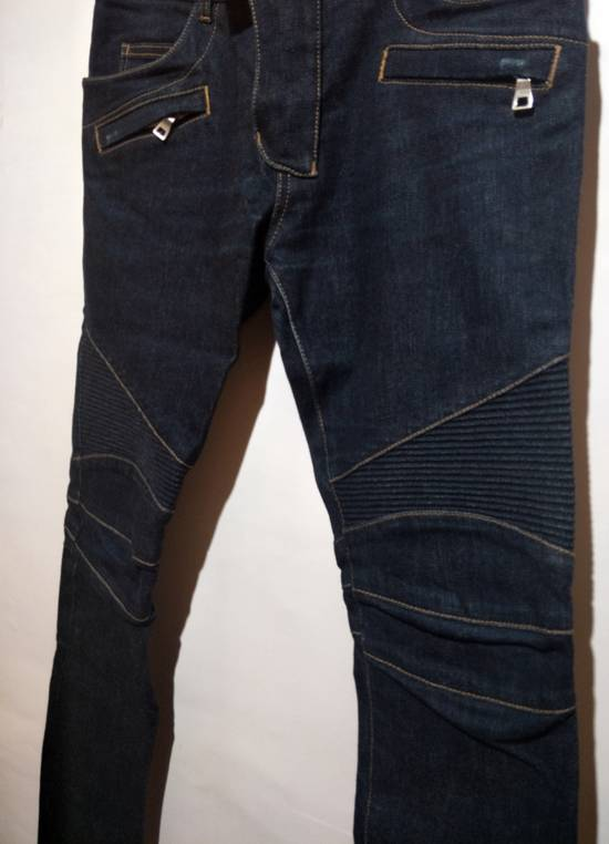 Balmain Vintage Balmain Paris Biker Blue Jeans Like New Size US 31 - 3