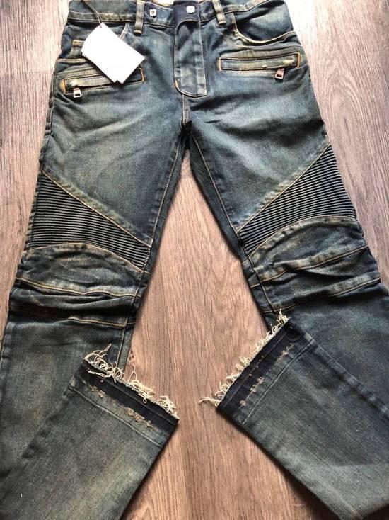 Balmain Balmain Authentic $1050 Blue Denim Biker Jeans Size 28 Slim Fit Brand New Size US 28 / EU 44