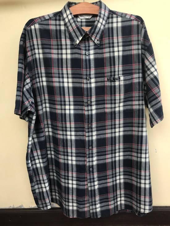 Balmain Balmain Short Sleeves Checked Shirt Size US XL / EU 56 / 4