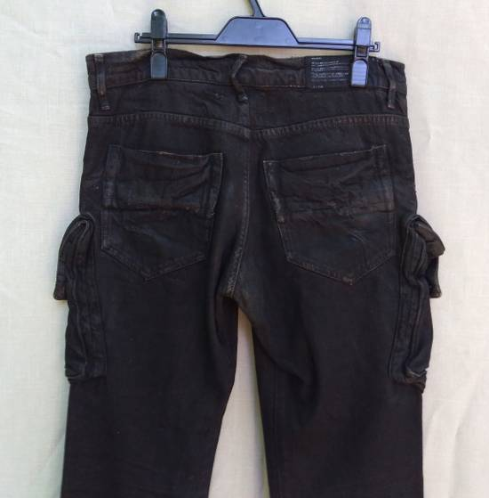 Julius Gas Mask Cargos Brown Waxed Denim Size US 31 - 3