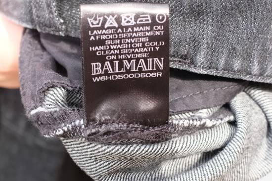 Balmain Black Distressed Biker Jeans Size US 29 - 10