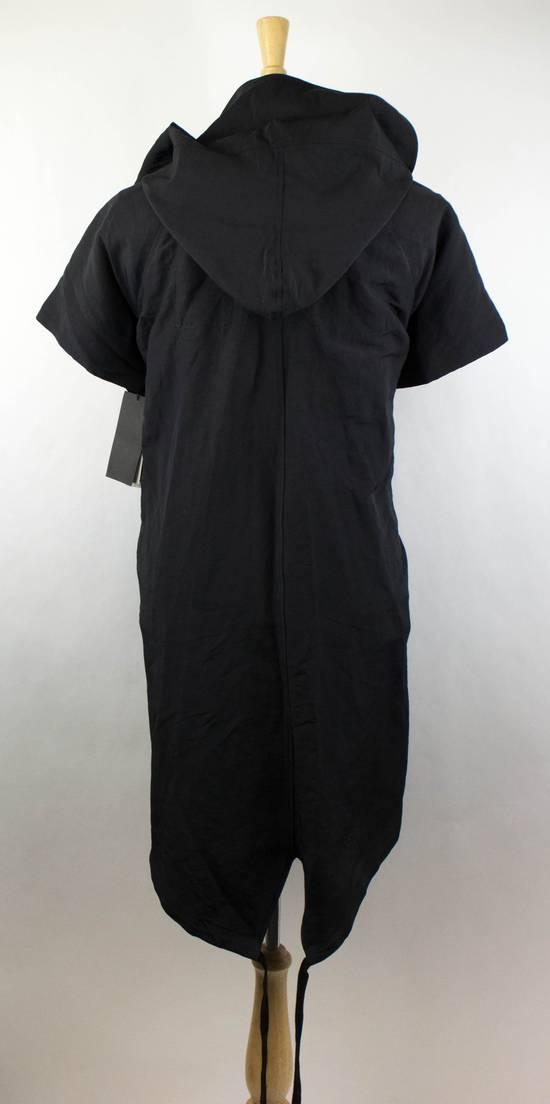Julius Men's Black Linen Blend Fishtail Parka Coat Size 0/2XS Size US XS / EU 42 / 0 - 3