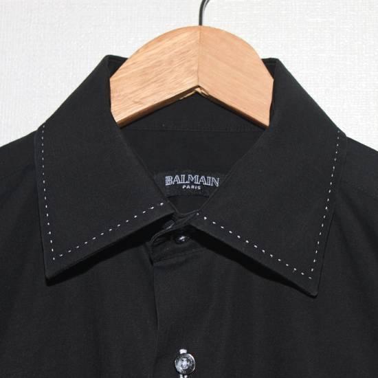 Balmain Vintage Balmain Paris Free Shipping Men's Longsleeve Button Shirt Black Size Fit Like L Cotton Size US L / EU 52-54 / 3 - 7