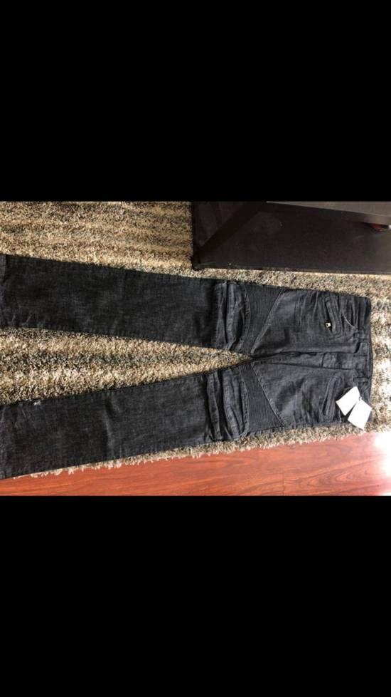 Balmain NWT Balmain Biker Homme Noir Denim Jeans Size 30 $1225 Size US 30 / EU 46 - 1