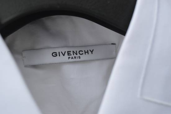 Givenchy White Embroidered Stars Collar Shirt Size US XL / EU 56 / 4 - 6
