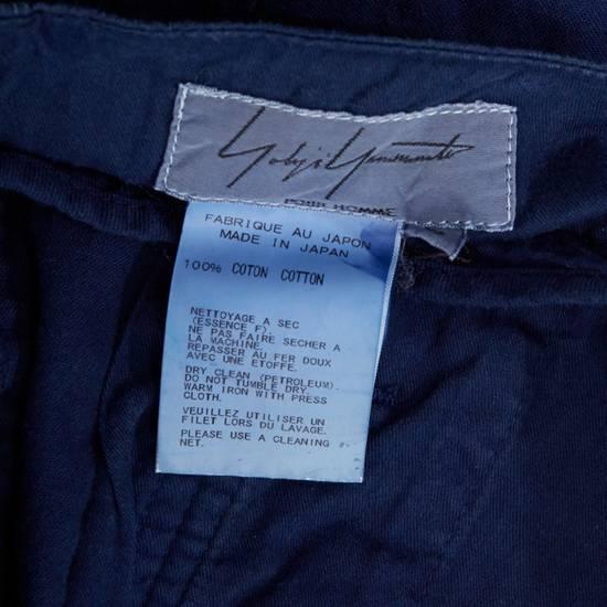 """Yohji Yamamoto YOHJI YAMAMOTO blue cotton dropped crotch exteme wide leg cargo pants JP3 33"""" L Size US 33 - 9"""