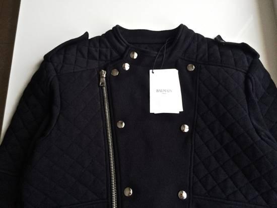 Balmain Balmain Black Quilted Biker Jacket Size US M / EU 48-50 / 2 - 2