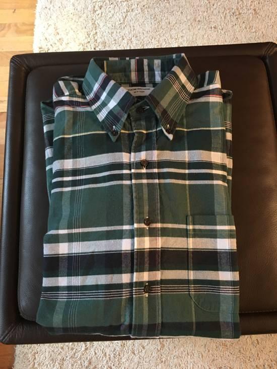 Thom Browne Plaid Oxford Cloth Button-Up Shirt Size US L / EU 52-54 / 3 - 7