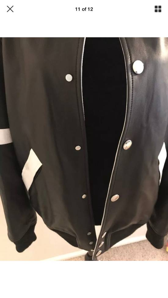 Givenchy Givenchy Black Leather Star And Stripe Bomber Jacket Size US M / EU 48-50 / 2 - 11