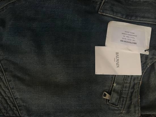 Balmain Faded Blue Biker Jeans (brand new w/ tag) Size US 33 - 1