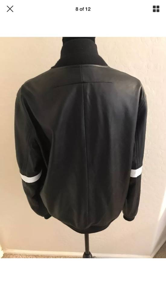Givenchy Givenchy Black Leather Star And Stripe Bomber Jacket Size US M / EU 48-50 / 2 - 8