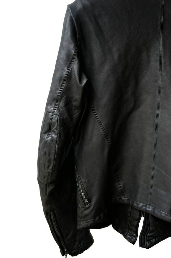 Julius JULIUS _7 ma high neck black lamb biker jacket slim fit Japan Size US S / EU 44-46 / 1 - 18