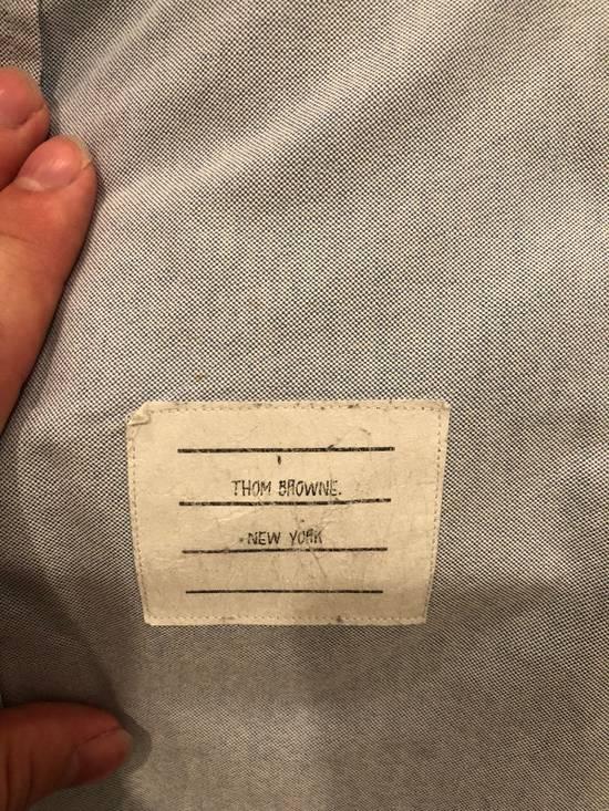 Thom Browne Blue Grosgrain Oxford Shirt Size US S / EU 44-46 / 1 - 3