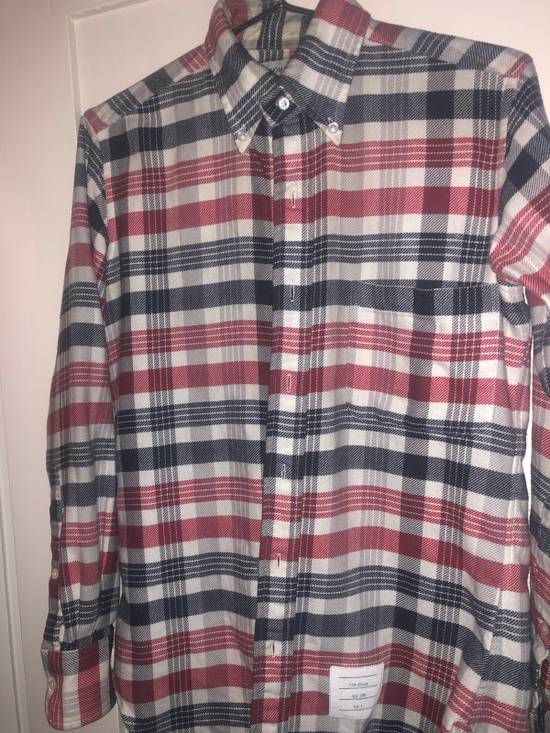 Thom Browne Long Sleeve Red White And Blue Shirt Size US S / EU 44-46 / 1