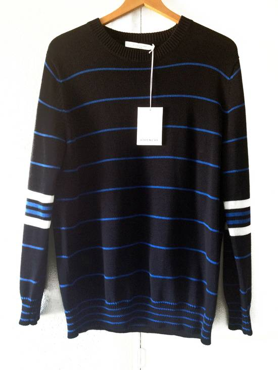 Givenchy GIVENCHY OVERSIZED STRIPED KNITTED COTTON SWEATER by Riccardo Tisci Size US L / EU 52-54 / 3 - 6