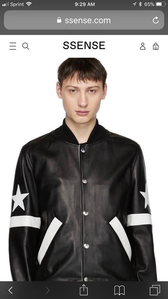 Givenchy Givenchy Black Leather Star And Stripe Bomber Jacket Size US M / EU 48-50 / 2 - 4
