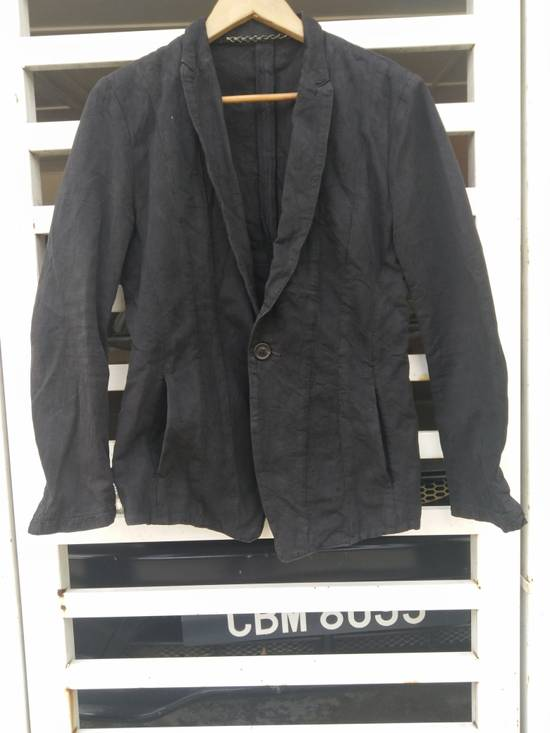 Julius Julius 2004 The Structure Black Cotton Coat Jacket Blazer Size US S / EU 44-46 / 1 - 6
