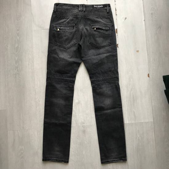 Balmain Distressed Grey Biker Denim Size US 30 / EU 46 - 2