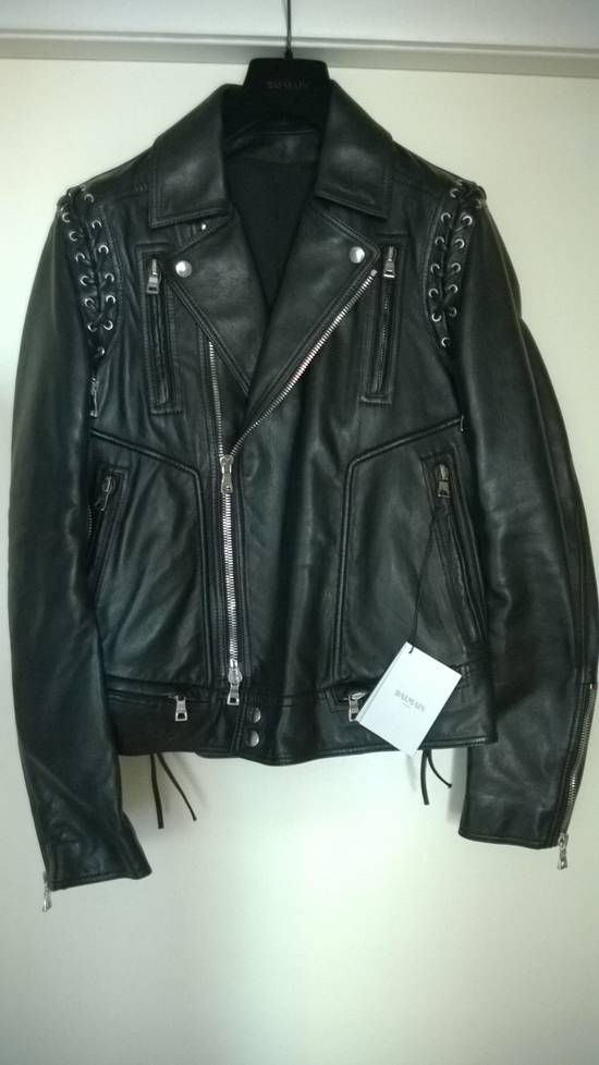 Balmain Sz 44 New Lambskin Biker Leather Jacket Size US XS / EU 42 / 0 - 6