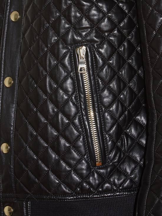 Balmain Balmain Quilted Leather Bomber Varsity Jacket Size 50 Black FW16/17 Brand New $5245 Size US M / EU 48-50 / 2 - 8