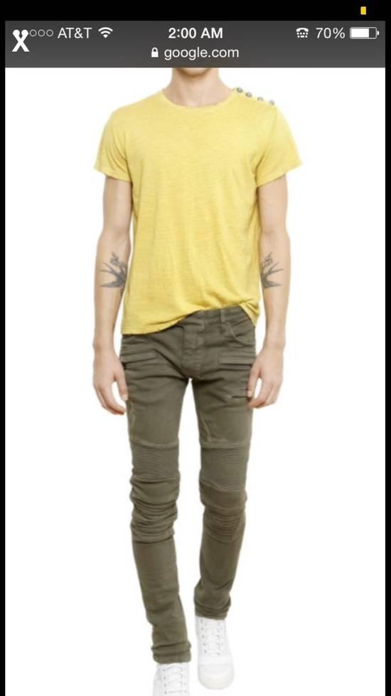Balmain Green Moto Jeans Size US 31