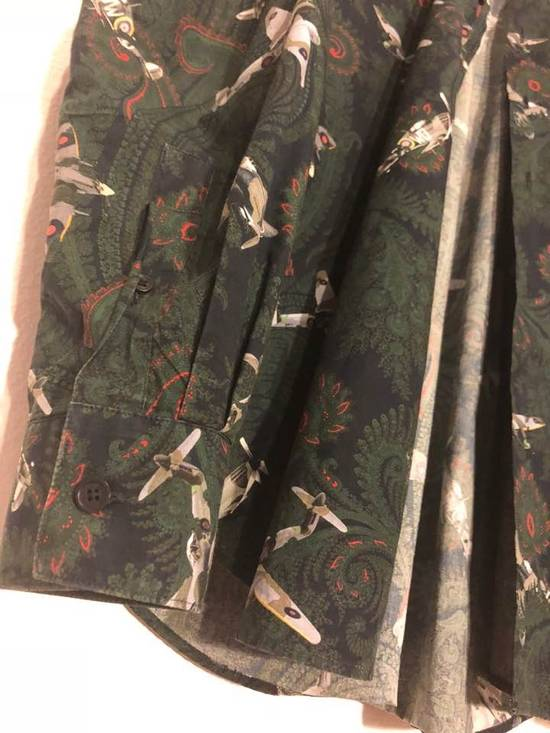 Givenchy Green/Navy Paisley Airplane Print Shirt Size US M / EU 48-50 / 2 - 4
