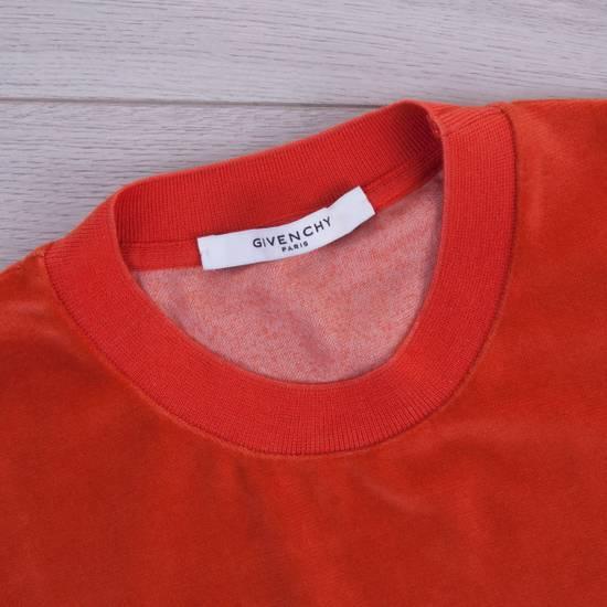 Givenchy Orange Men's Velour Crewneck T-Shirt With 4G Chest Logo Size US M / EU 48-50 / 2 - 7