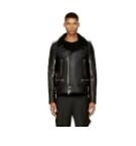 Balmain Black Leather & Shearling Biker Jacket Size US S / EU 44-46 / 1 - 8