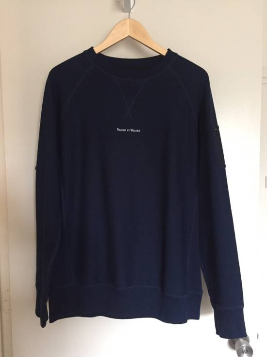 Raised By Wolves Micrologo Pocket Crewneck in Indigo/Navy Size US M / EU 48-50 / 2 - 1