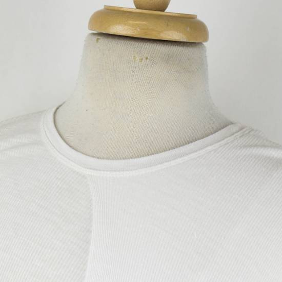 Julius 7 White Silk Blend Long Sleeve Long Ribbed Crewneck T-Shirt 3/M Size US M / EU 48-50 / 2 - 3