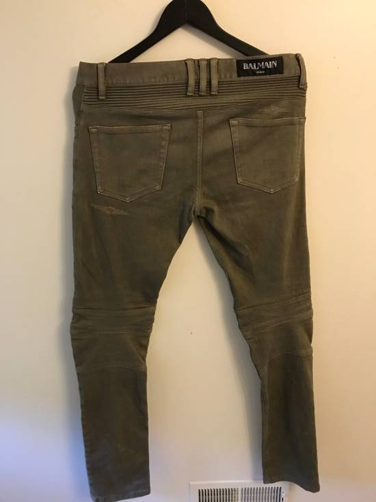 Balmain Dark Green Biker Size US 29 - 1