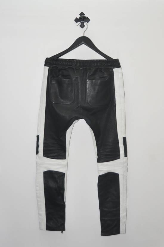 Balmain Balmain Men's Black Biker Style Nappa Leather Trousers Size US 32 / EU 48 - 1