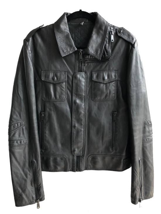 Dior AW05 Dior Homme 'L-Zip' Leather Motorcycle Biker Jacket Sz 50 Size US M / EU 48-50 / 2