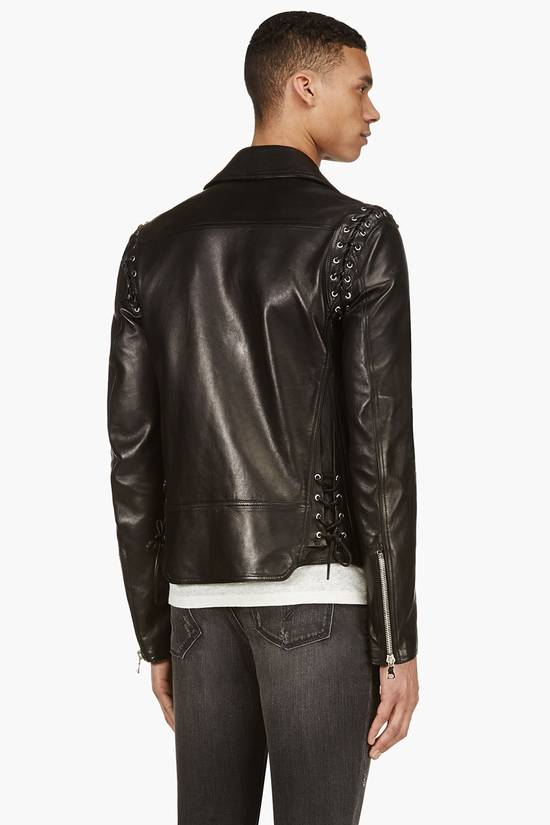 Balmain Sz 44 New Lambskin Biker Leather Jacket Size US XS / EU 42 / 0 - 4