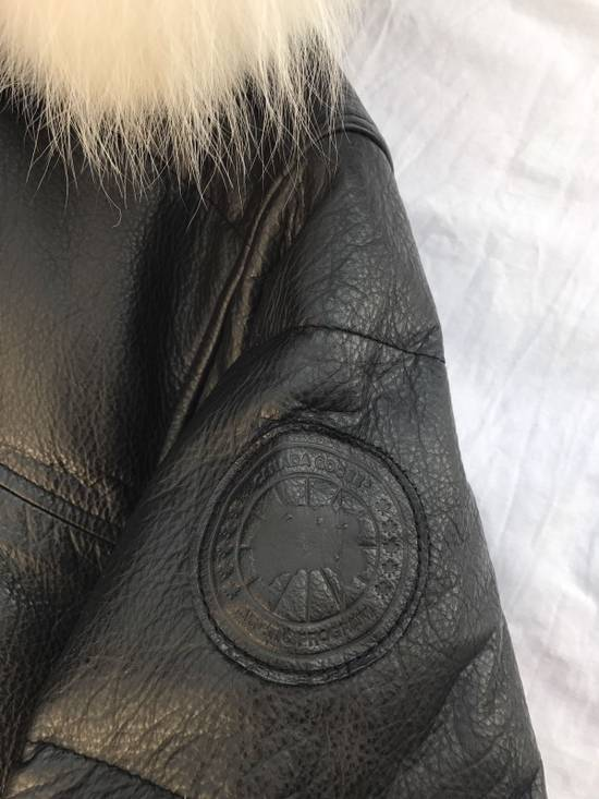 Canada Goose OVO Canada Goose 2011 Leather 24k Gold Fur Bomber Jacket Size US XL / EU 56 / 4 - 12