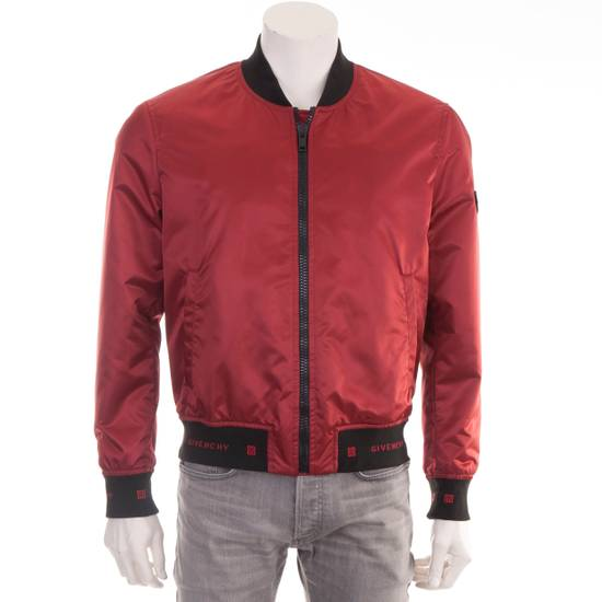 Givenchy Dark Red Nylon Givenchy Paris 4G Bomber Jacket Size US M / EU 48-50 / 2