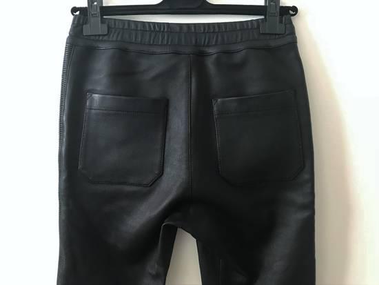Balmain LAST DROP! Size M Fits S - Slim Fit Leather Ribbed Biker Style Sweatpants - $3100 Retail Size US 30 / EU 46 - 9