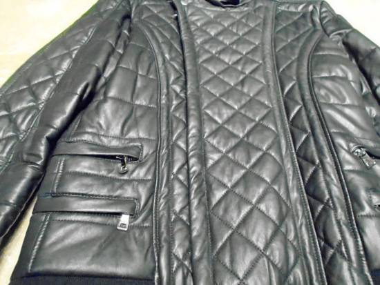Balmain QUILTED LEATHER BIKER JACKET Size US M / EU 48-50 / 2 - 3