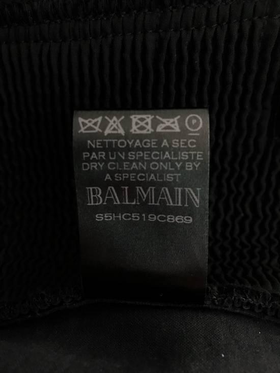 Balmain LAST DROP! Size M Fits S - Slim Fit Leather Ribbed Biker Style Sweatpants - $3100 Retail Size US 30 / EU 46 - 13