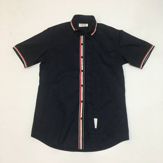 Thom Browne Thom Browne Blue Short Sleeve Shirt not gucci chanel fendi balenciaga louis vuitton Size US M / EU 48-50 / 2 - 1