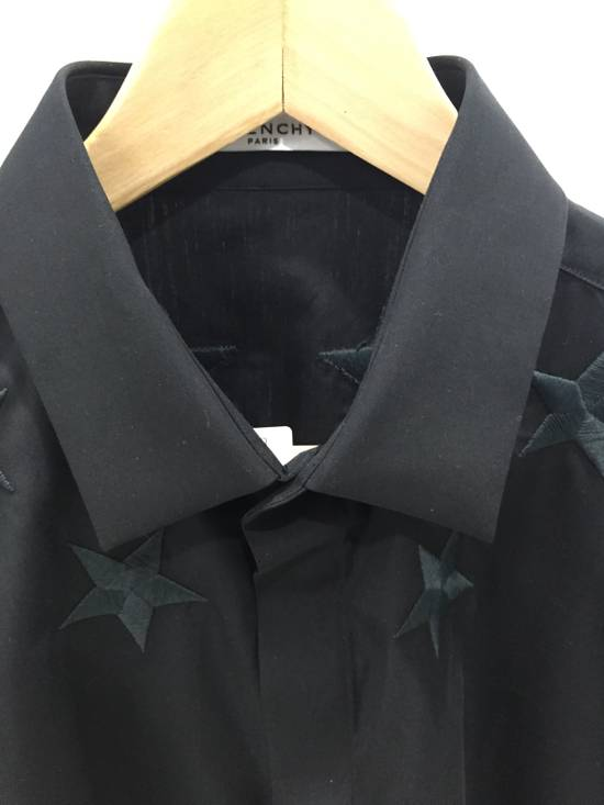 Givenchy Black Embroidered Star Long Sleeve Button Down Shirt Size US L / EU 52-54 / 3 - 2