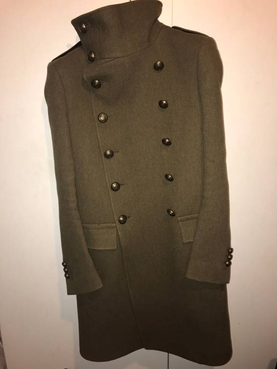 Balmain Balmian Army Green Chief Coat (heavy Thread!) Size US S / EU 44-46 / 1 - 1