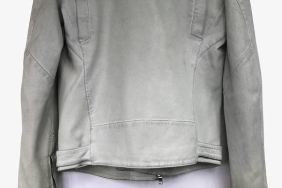 Balmain $4k Balmain White Leather Perfecto Biker Jacket 48 46 Size US M / EU 48-50 / 2 - 4
