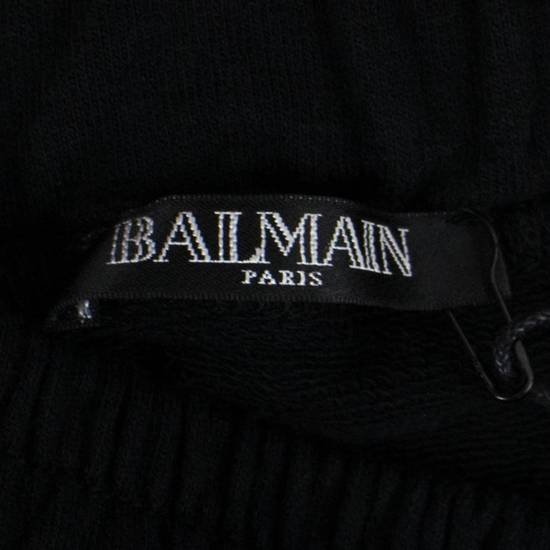 Balmain Men's Black Cotton Sarouel Jersey Pants Size Large Size US 36 / EU 52 - 3