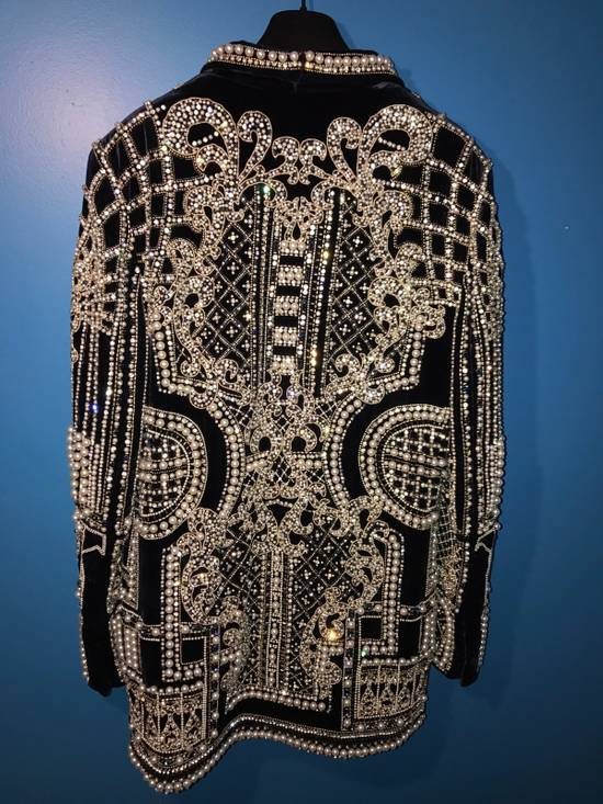 Balmain Balmain Fall 2012 Swarovski Crystal & Pearl Fabergé Tuxedo Size US XXL / EU 58 / 5 - 15