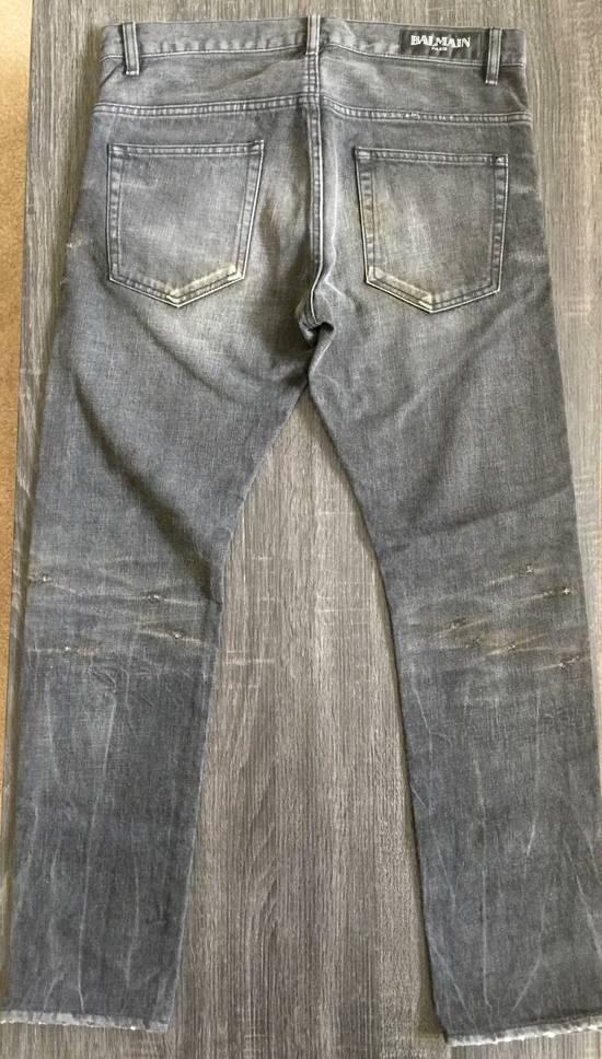 Balmain Balmain Black Distressed Jeans Size US 32 / EU 48 - 3