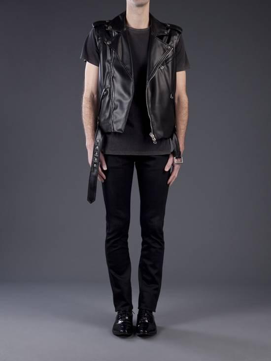Balmain $1200 Last Drop Before Delete Perforated Eco Leather Vest Black Size US M / EU 48-50 / 2 - 3