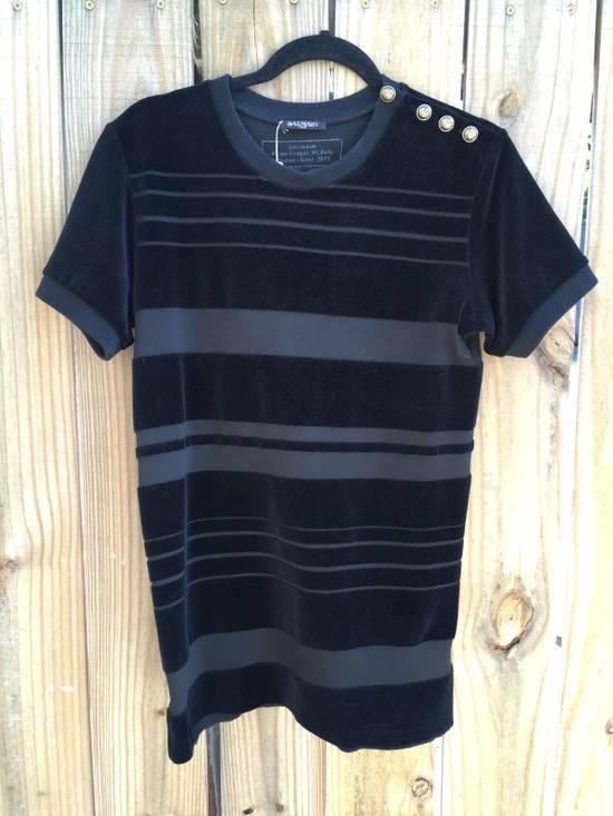 Balmain Balmain Striped Velvet Jersey Top Size US S / EU 44-46 / 1