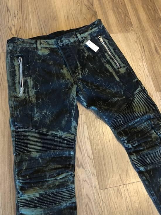 Balmain Extremely Rare Brand New Balmains- Marble-Print Skinny Moto Jeans Size US 32 / EU 48