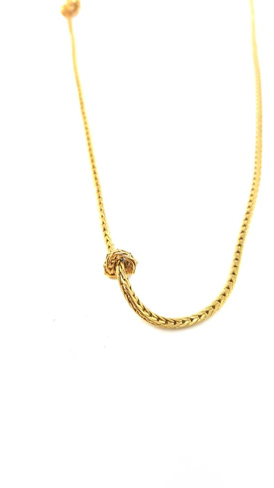 Givenchy Gold plated barbed wire necklace Size ONE SIZE - 1